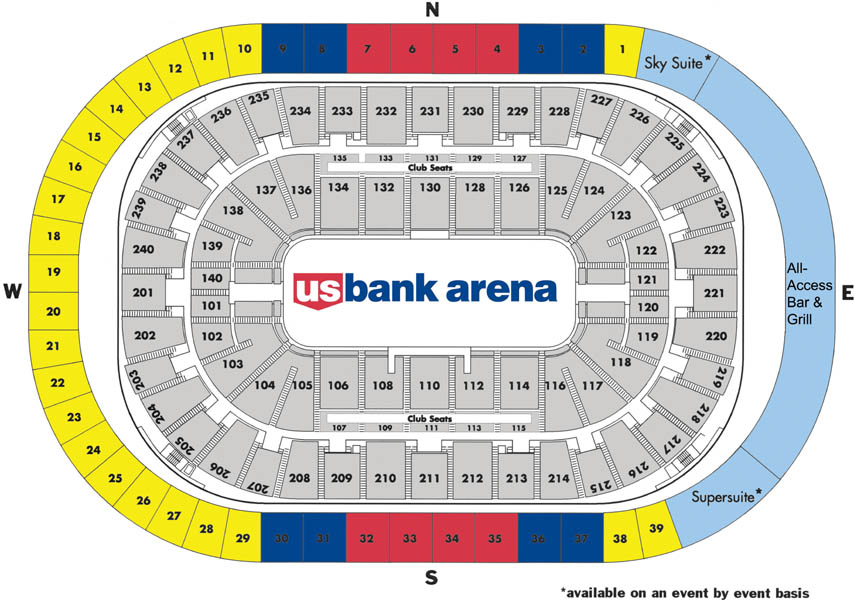US Bank Arena - Parking map us bank stadium