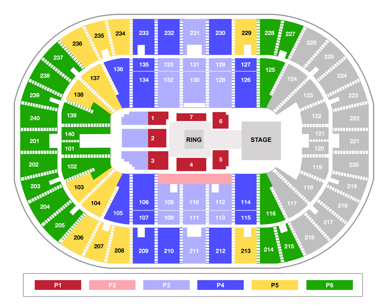 US Bank Arena WWE Smackdown - Us bank arena seat map