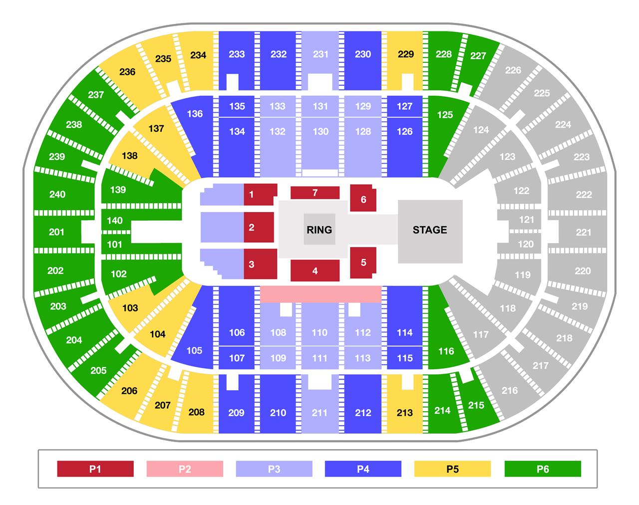 US Bank Arena WWE Smackdown - Us bank arena cincinnati map